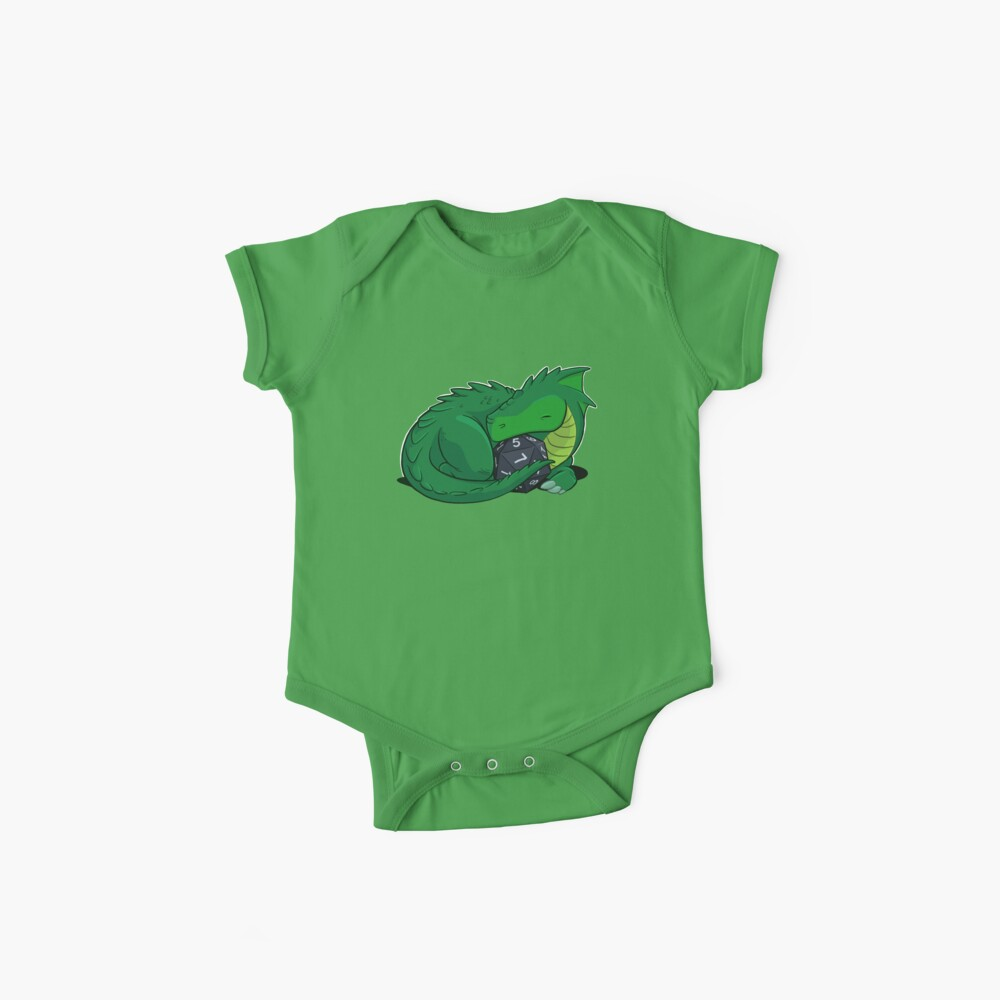 D20 Green Dragon Baby One-Pieces
