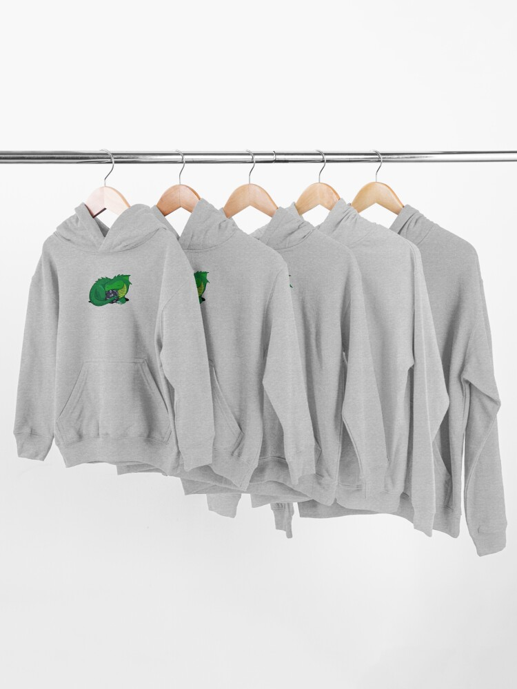 Alternate view of D20 Green Dragon Kids Pullover Hoodie