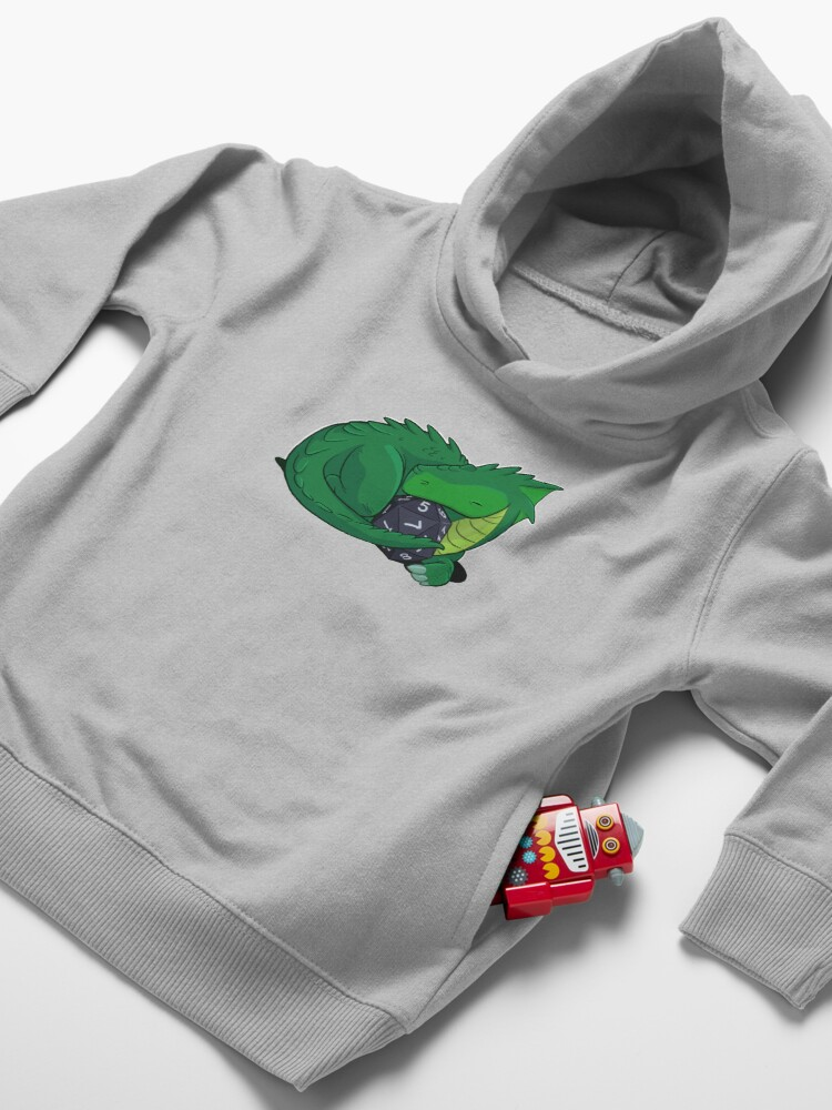 Alternate view of D20 Green Dragon Toddler Pullover Hoodie