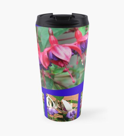 Tanzen Fuchsia Belles - Sommer-Blumen-Collage Thermosbecher