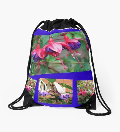 Tanzen Fuchsia Belles - Sommer-Blumen-Collage Turnbeutel