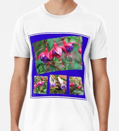 Tanzen Fuchsia Belles - Sommer-Blumen-Collage Premium T-Shirt