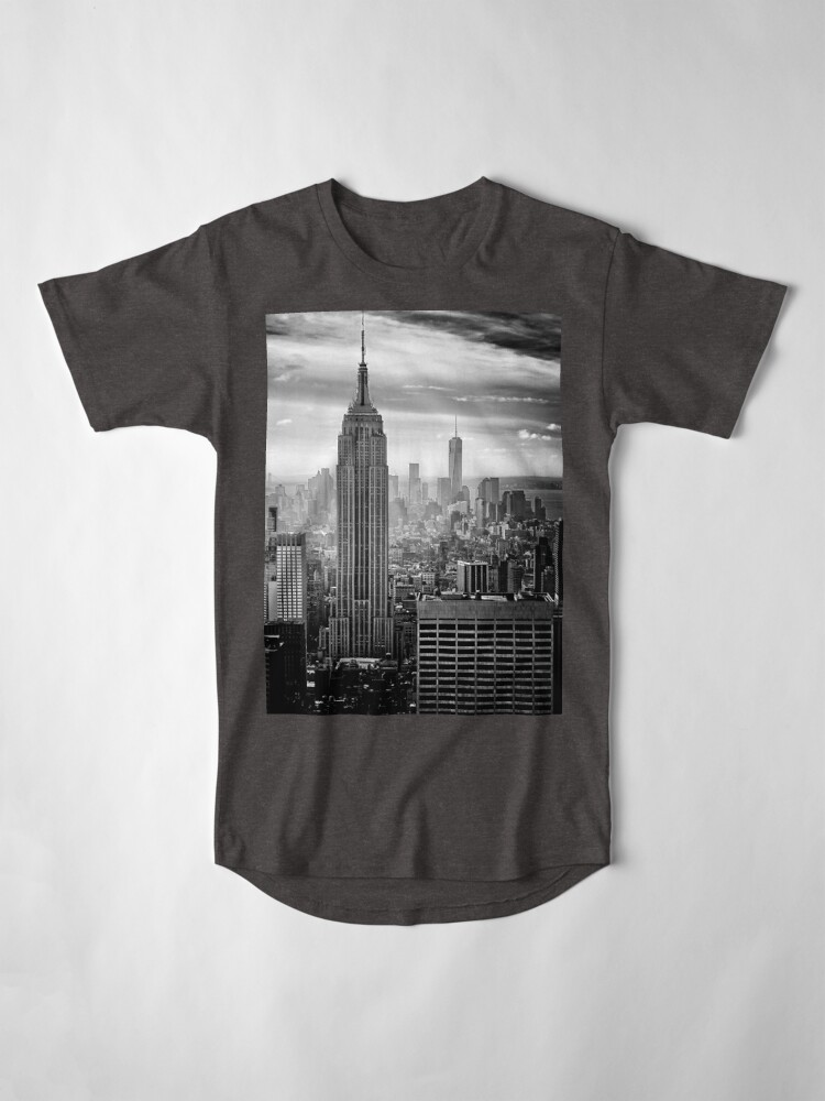 Vista alternativa de Camiseta larga Skyline de la ciudad de Nueva York