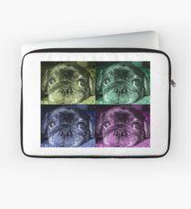 Black Pug dog Laptop Sleeve