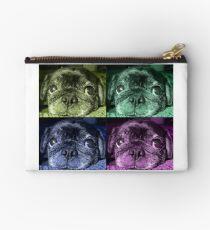 Black Pug dog Studio Pouch