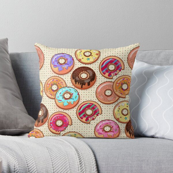 I Love Donuts Yummy Baked Goodies Sugary Sweet Throw Pillow