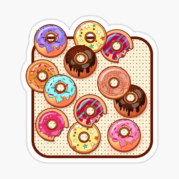 I Love Donuts Yummy Baked Goodies Sugary Sweet Sticker