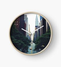 New York City Street Skyscapers #tapestry Clock
