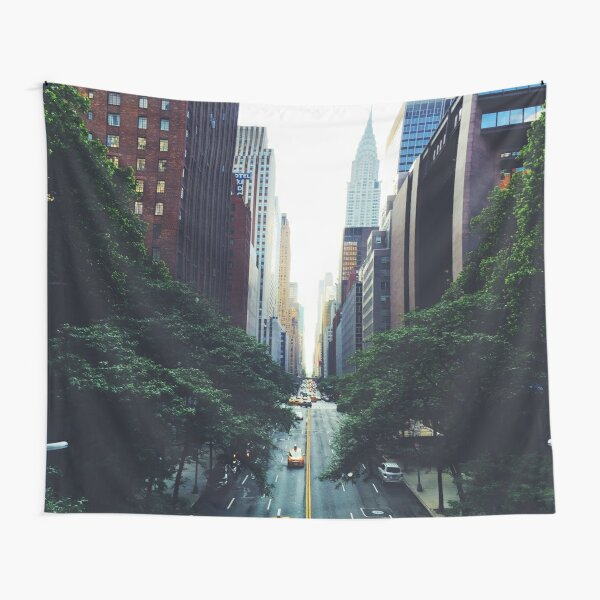 New York City Street Skyscapers #tapestry Tapestry
