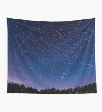 Stars, Forest, Night Wall Tapestry