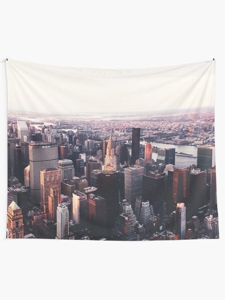 Alternate view of New York City Cityscape Skyscape #trending #tapestry Tapestry