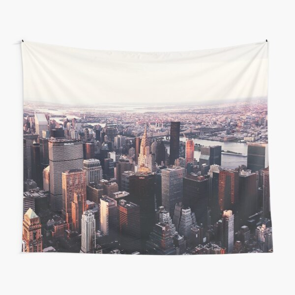 New York City Cityscape Skyscape #trending #tapestry Tapestry