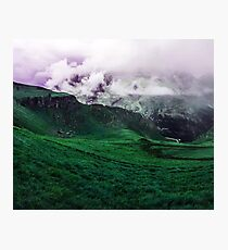 Foggy Green (Landscape Photography) Photographic Print