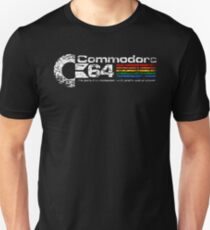 Men's Distressed Commodore 64 Logo T-shirt