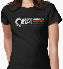 Ladies C64 Distressed Logo T-shirt - S to 2XL