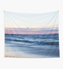 Sea Waves at Sunrise Wall Tapestry