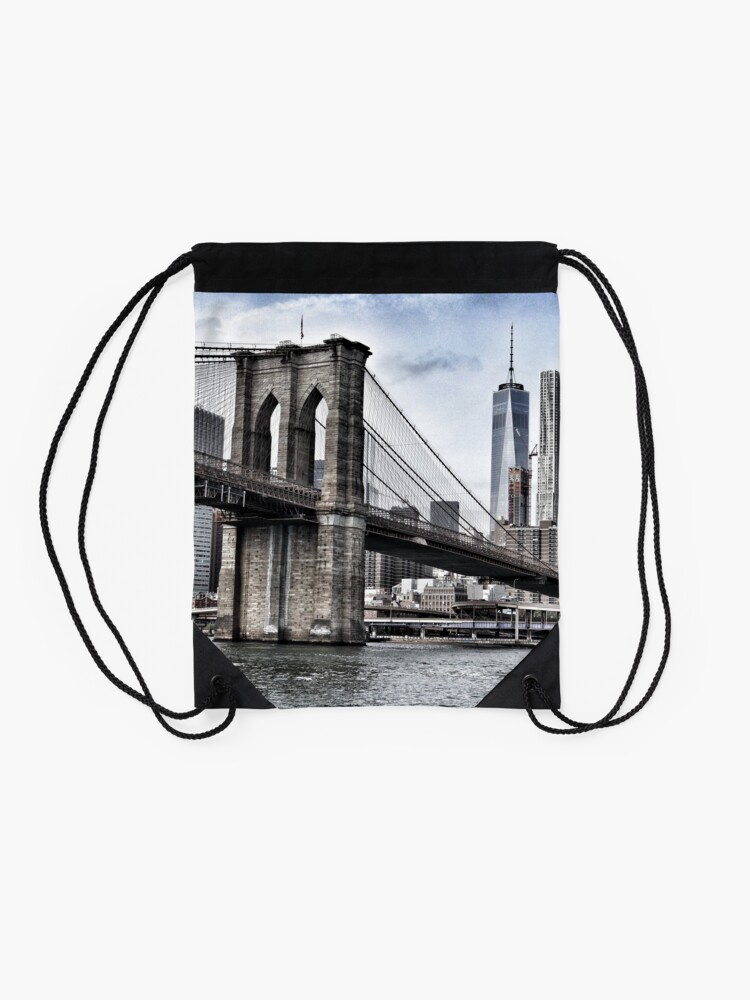 Alternate view of NYC #tapestry #decor #trending Drawstring Bag