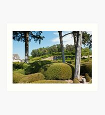 Marqueyssac Chateau gardens Central France. Art Print