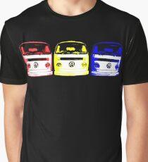 VW Kombi - Red Yellow Blue Graphic T-Shirt