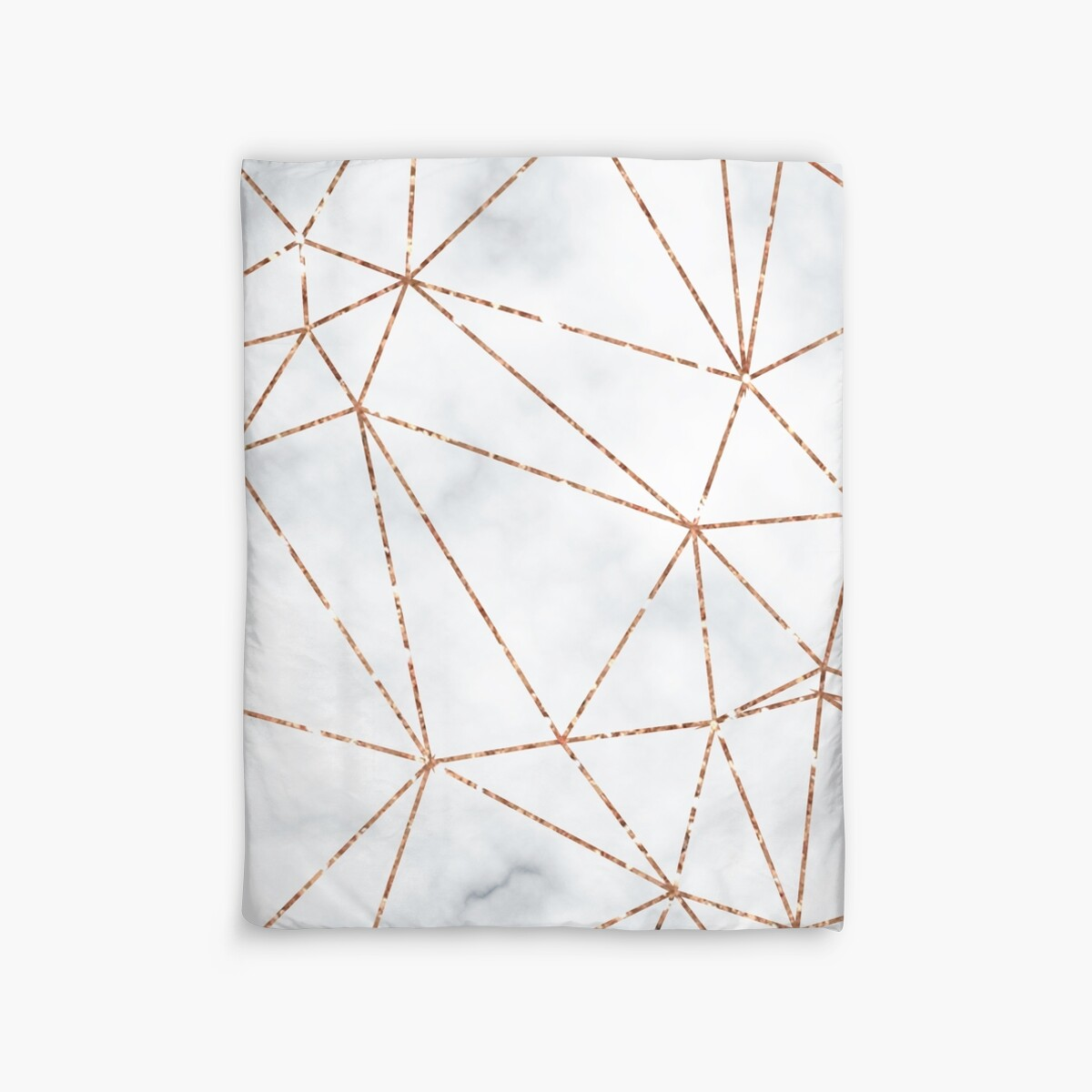 marble geometric rose gold design duvet covers by bazzadesigns redbubble. Black Bedroom Furniture Sets. Home Design Ideas