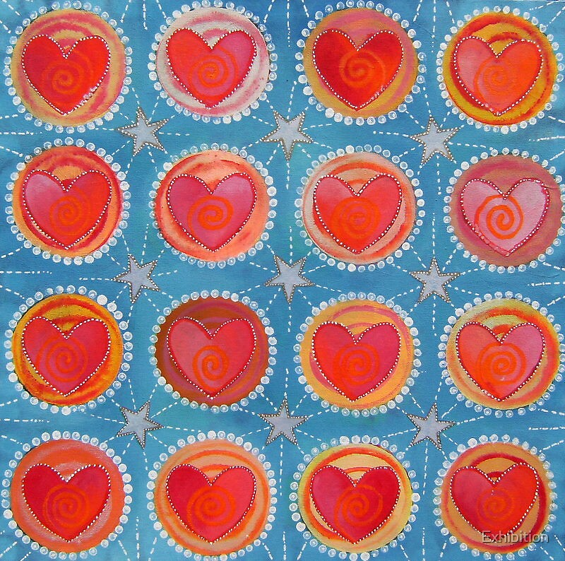 """"""" 16 HEARTS 1 - KALEIDOSCOPE """" by Exhibition"""
