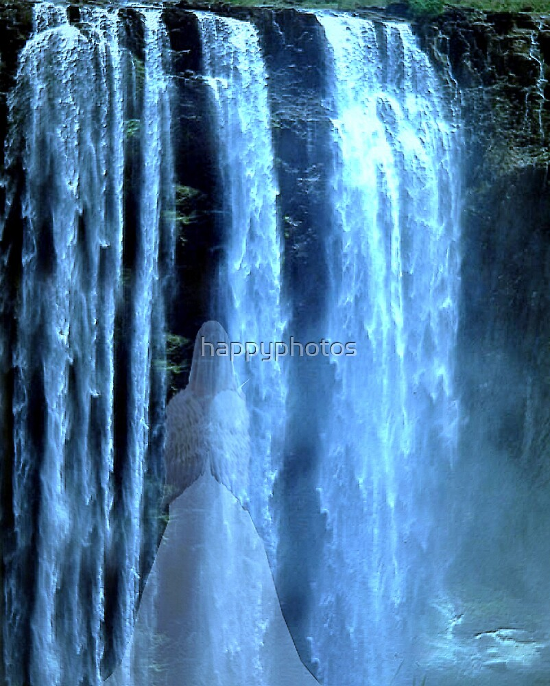 The angel in the waterfall by happyphotos