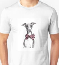 Italian Greyhound wearing a snazzy bow tie Unisex T-Shirt