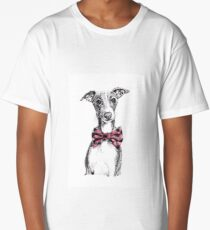 Italian Greyhound wearing a snazzy bow tie Long T-Shirt