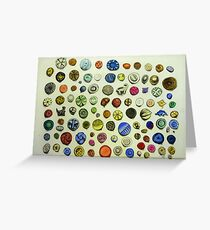 Button Collection Greeting Card