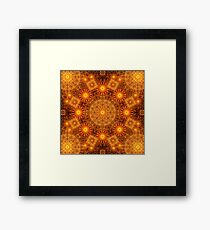 The Divine Matrix Mandala Framed Print