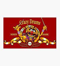 Crazy Drums Photographic Print
