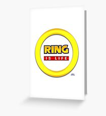 Sonic Rings are Life Greeting Card