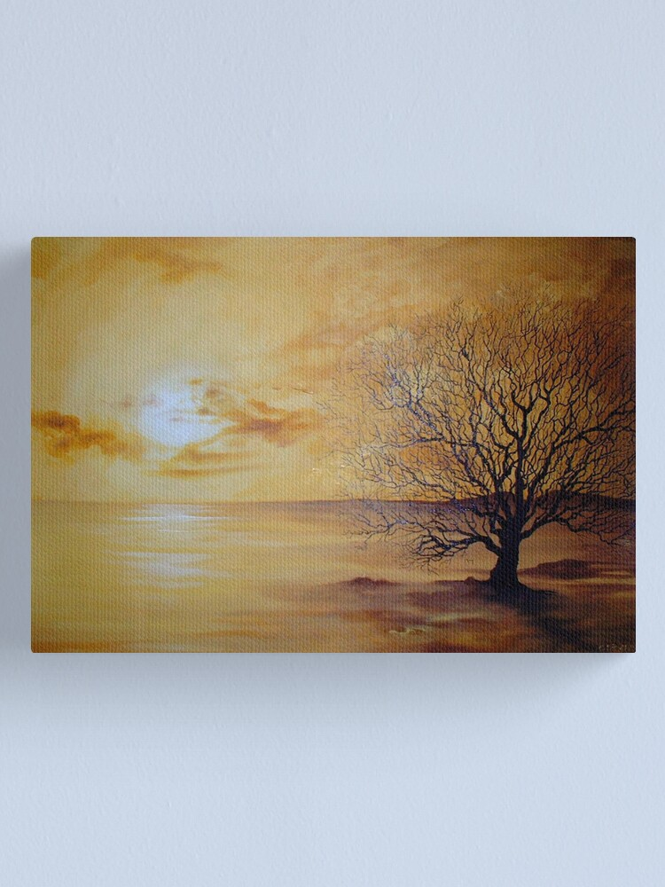 Alternate view of Yellow Skies, Lonely Tree Canvas Print