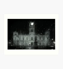 Ballarat Town Hall, Winter Art Print