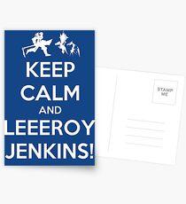 Keep Calm and LEEROY JENKINS! Postcards