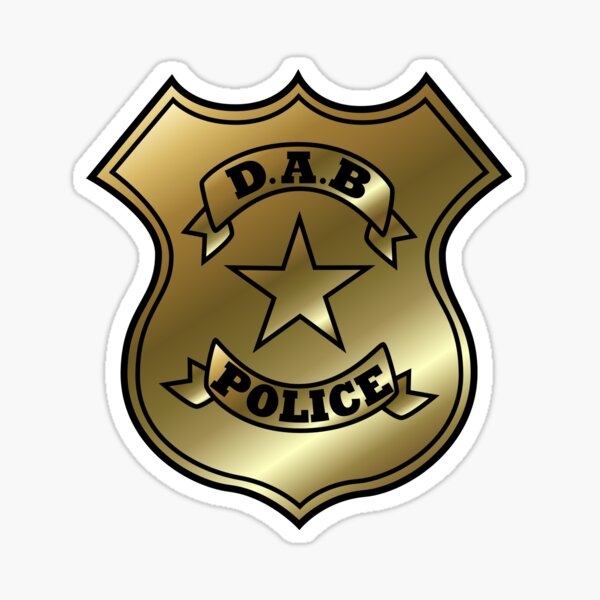 DAB Police Sticker