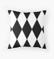 LARGE BLACK AND WHITE HARLEQUIN- DIAMOND- ARGYLE  PATTERN DESIGNED FOR HOME DECOR AND CLOTHING Throw Pillow