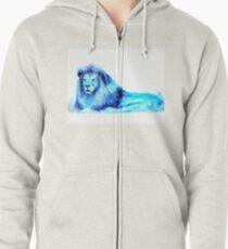 Blue Lion Zipped Hoodie