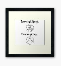 Dungeons and Dragons luck Framed Print