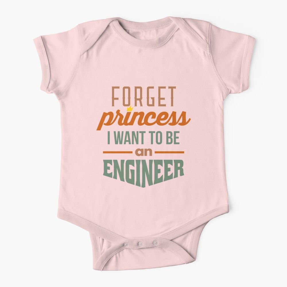 Forget Princess - Engineer Baby One-Piece