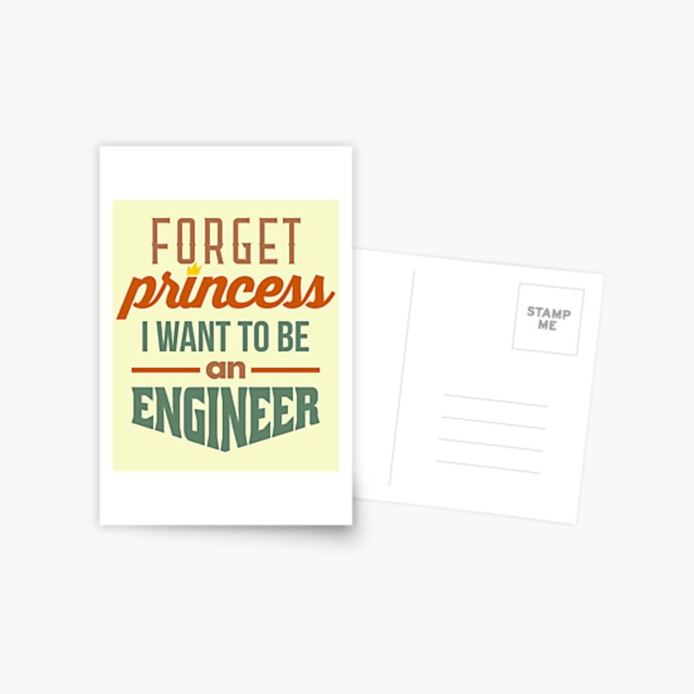 Forget Princess - Engineer Postcard