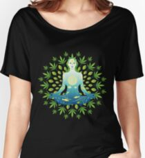 Young woman practicing meditation 3 Women's Relaxed Fit T-Shirt