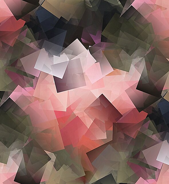 Abstract In Pink, Grey And Green by Alexandra Lavizzari