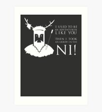 Arrow in the NI! Art Print