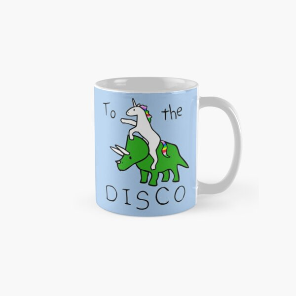 To The Disco (Unicorn Riding Triceratops) Classic Mug