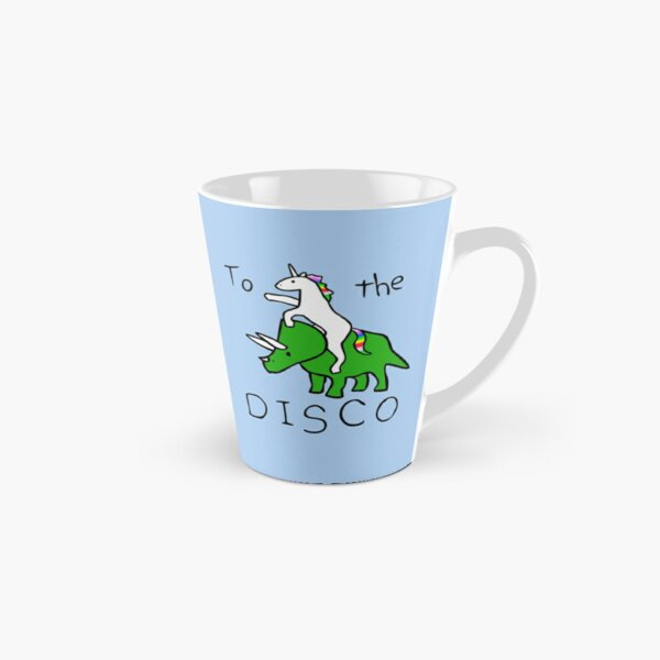 To The Disco (Unicorn Riding Triceratops) Tall Mug