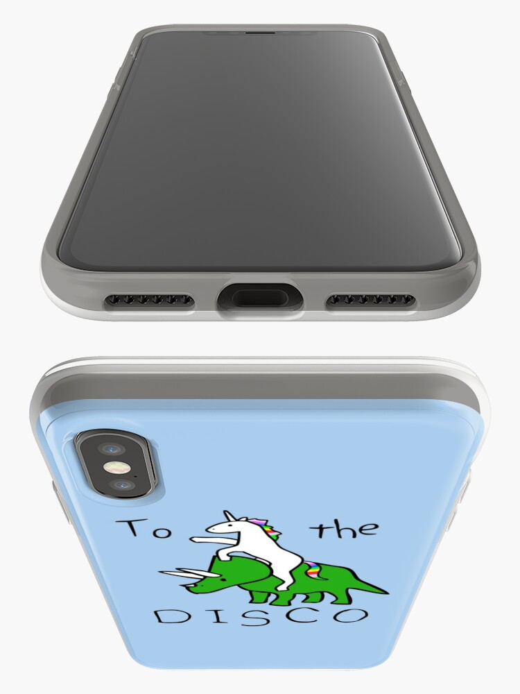 Alternate view of To The Disco (Unicorn Riding Triceratops) iPhone Case & Cover