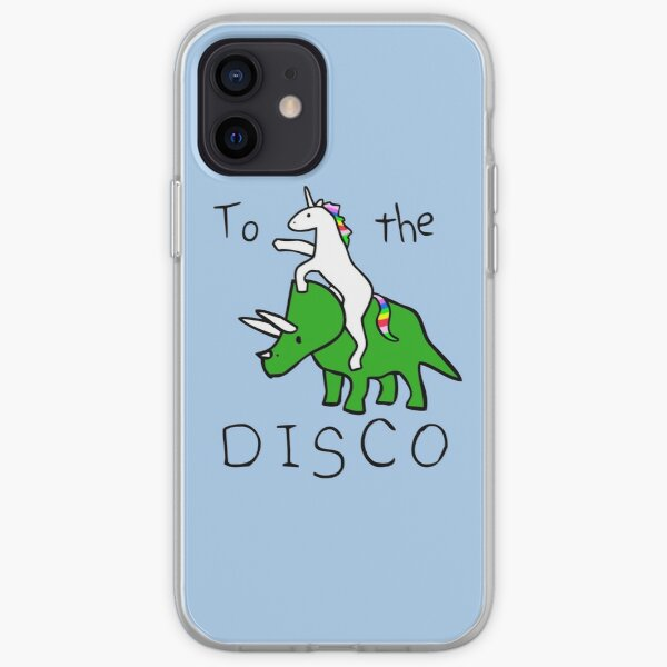 To The Disco (Unicorn Riding Triceratops) iPhone Soft Case