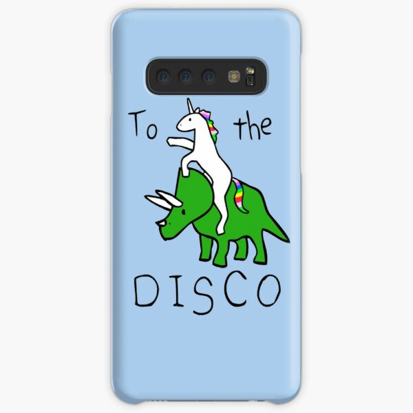 To The Disco (Unicorn Riding Triceratops) Samsung Galaxy Snap Case