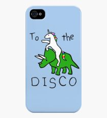 To The Disco (Unicorn Riding Triceratops) iPhone 4s/4 Case
